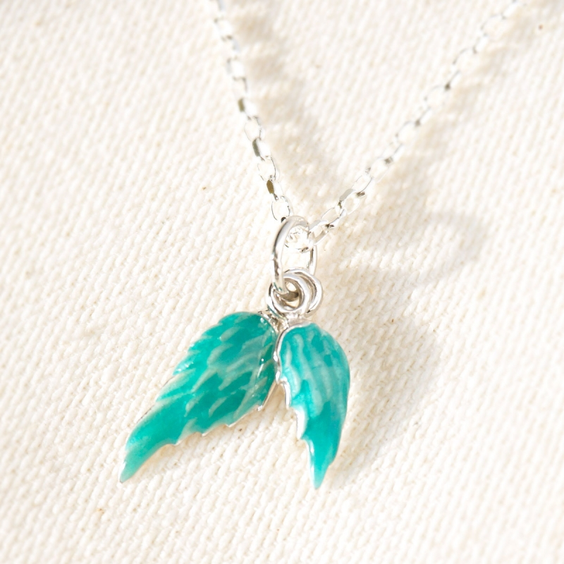 The blue bird enamel necklace for Christmas gift